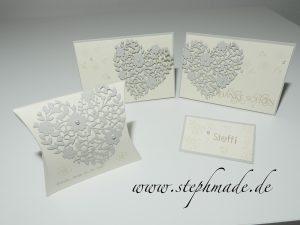 Hochzeitsset: Blühendes Herz/Blüten der Liebe