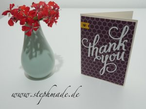Read more about the article Dankeskarte mit dem Stempelset Another Thank You