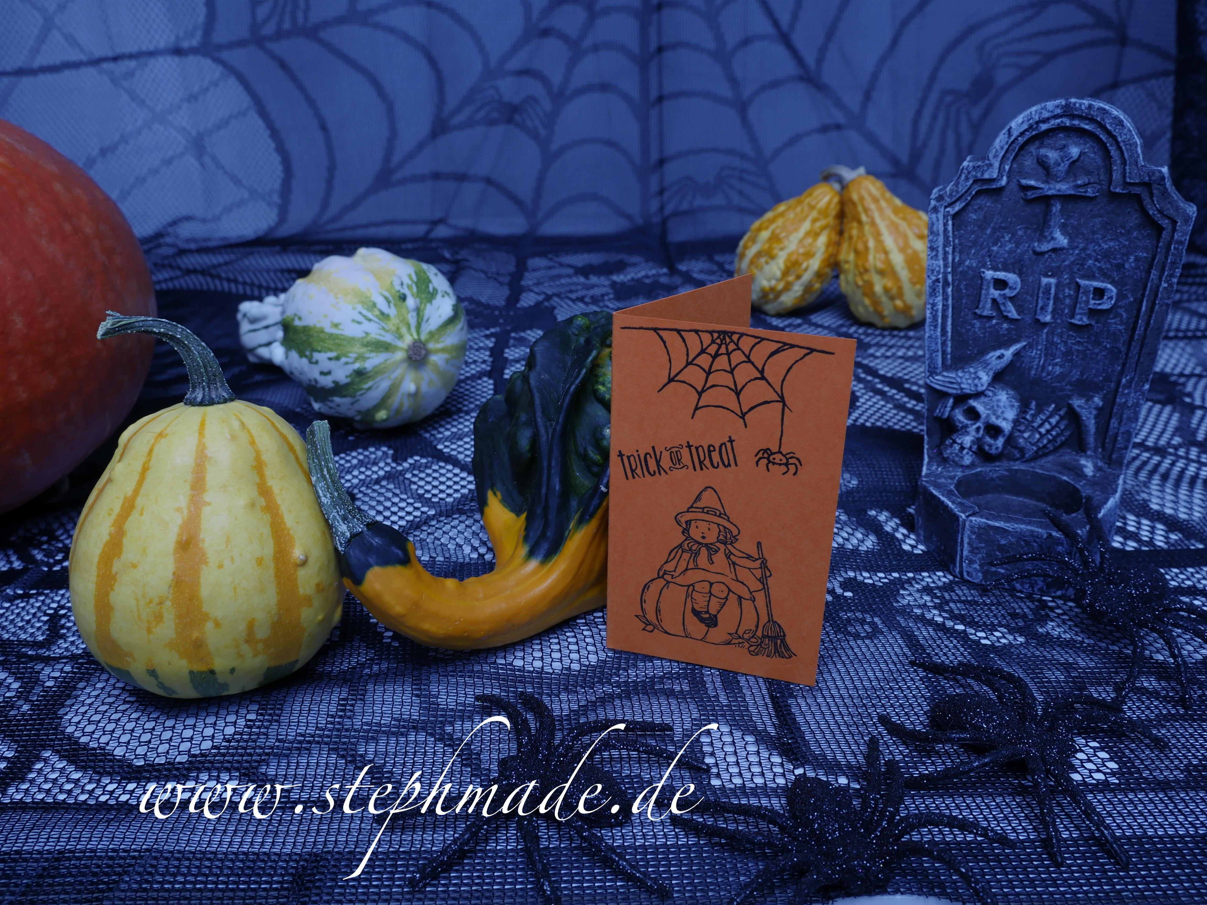 Schnelle Halloweenkarte