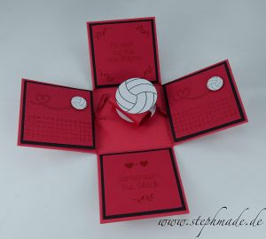 Read more about the article Hochzeitsexplosionsbox in schwarz-rot mit Gedicht