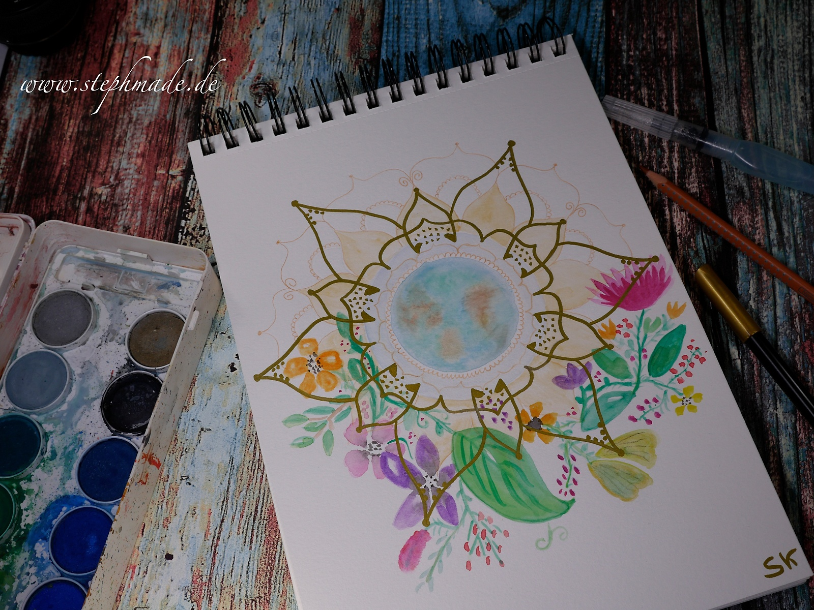 Mein erstes selbst gemachtes Mandala